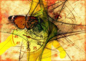 tempo, viso, farfalla