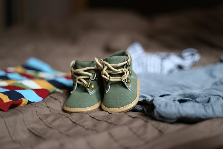 nascita di un figlio, scarpette da bimbo
