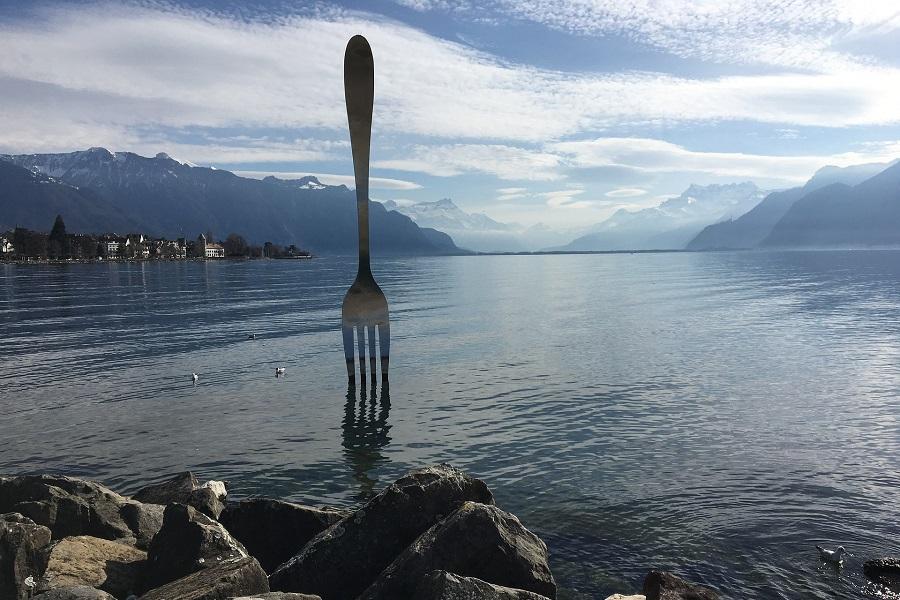 forchetta, cibo